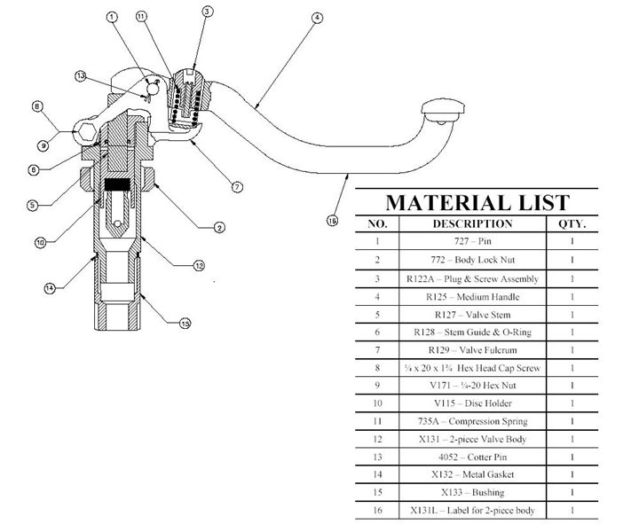 UB HEAD VALVE ASSEMBLY WITH BUSHING